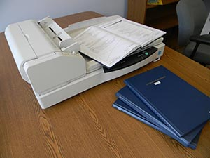 bound book, notebook, binder scanning