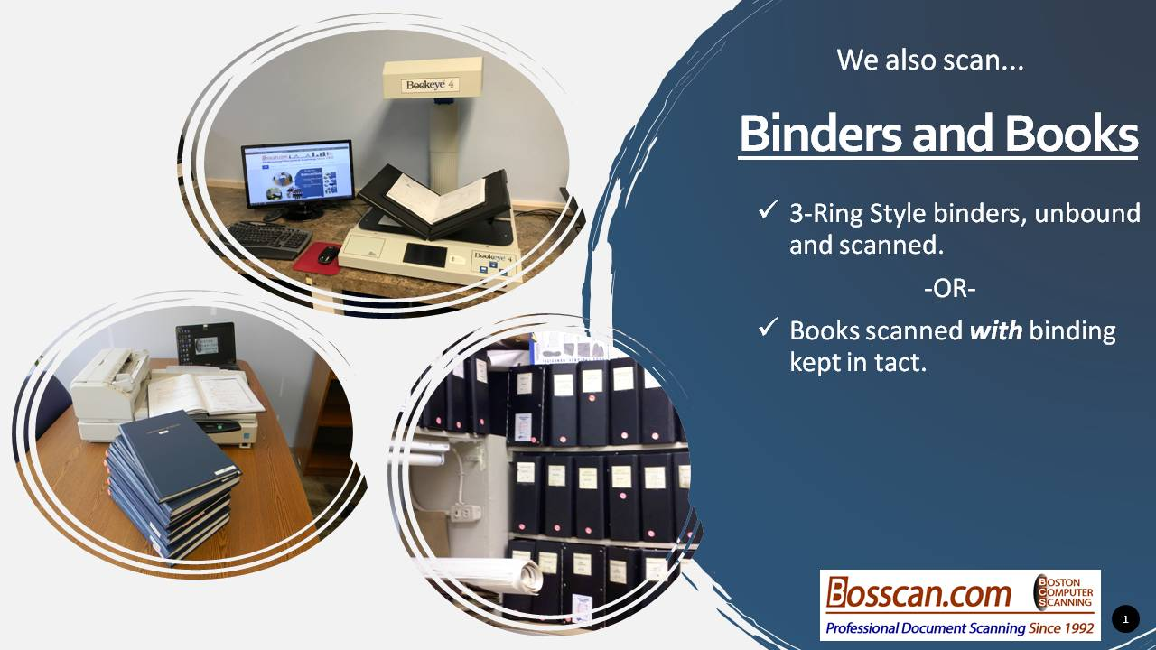 bound books with or without removable bindings we scan