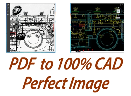 autocad conversion from pdf image